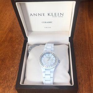 Anne Klein Ceramic White Watch